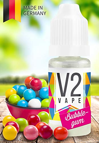 V2 Vape E-Liquid Bubblegum/Kaugummi gebrauchsfertig - Made in DE 0mg nikotinfrei - 20ml -