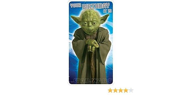 Star Wars Yoda Birthday Card Amazoncouk Electronics