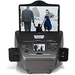 Film Scanner avec 2,4'' Écran, 16 MP Film Photo Numériseur Combo Multifonction de Photos Scanner pour Cartes de visites, diapos, négatifs vers Le numérique