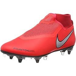 Nike Phntom Vsn Academy DF Sgpro AC, Zapatillas de Fútbol Unisex Adulto, (Bright Crimson/Metallic Silver 600), 44 EU