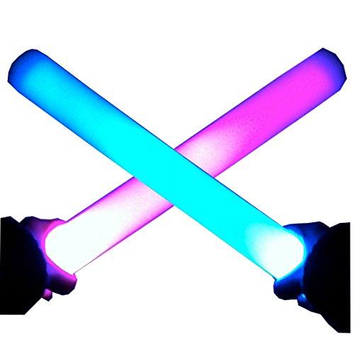 9 x LED Leuchtstab 6 Farbeffekte batteriebetrieben - mehrfarbig - 40cm