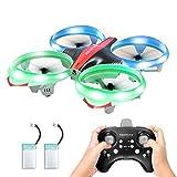 Redpawz LED Drone para Niños, Drone Interactivo Infrarrojo sin Manos con Modo de Desplazamiento / sin Cabeza Una Tecla Fly / Landing RC Quadcopter Aircraft, Modo de 3 Velocidades con 2 Baterías