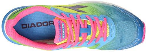 Diadora Mythos Racer Evo, Scarpe da Corsa Unisex-Adulto Multicolore (C6048 Blu Fluo/Giallo Fluo)