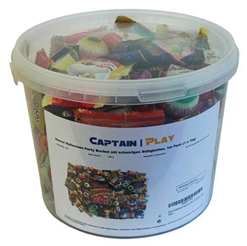 Horror Halloween Party Bucket mit schaurigen Süßigkeiten, 1er Pack (1 x 1kg) - 3