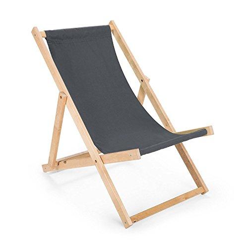 AmazingGirl Liegestuhl Sonnenliege zusammenklappbar auflage, camping schön deco gartenliege outdoor...