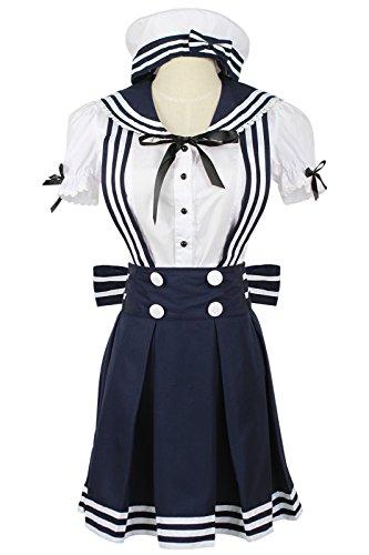 L-email Sexy Lolita Spitze Magd Outfit Café Begleiter Cosplay Costumes Kostüm für Damen Weiße Schürze Halloween Fancy Dress (XL, WSJ222)