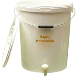 Happy Kombucha - Juego para preparar kombucha casera (tamaño medio)
