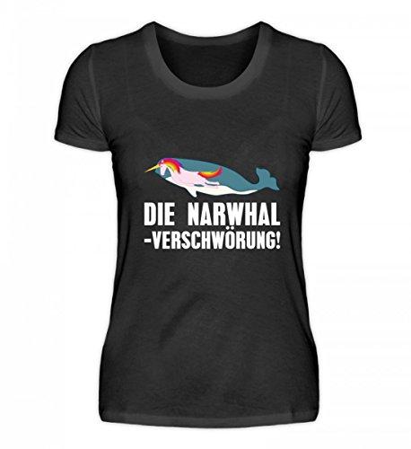 iges Damenshirt - Die Narwhal Einhorn Verschwörung ()