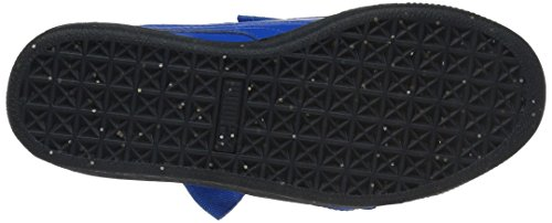 PUMA Baby Basket Heart Iced Glitter Block Kids Sneaker  Plat Blue Black  6 M US Toddler