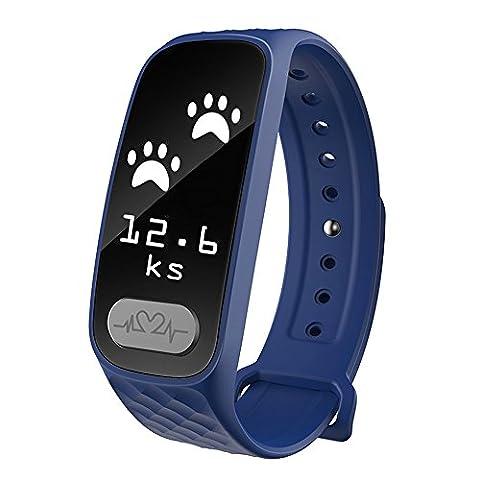 maaryee Bluetooth ECG Smart Armband tragbar Fitness Tracker Kalorienzähler B20Sports