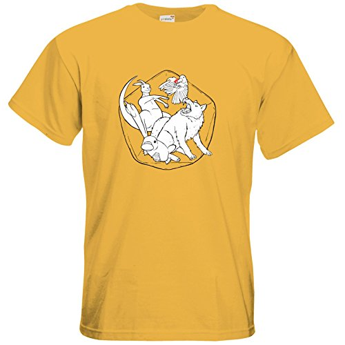 getshirts - Rocket Beans TV Official Merchandising - T-Shirt - Animal Squad - Team Würfel Gold