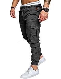 Amaci&Sons Jogger Cargo Herren Chino Jeans Hose 7001