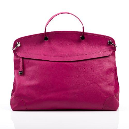 BACCINI sac à main NOEMI - porte-monnaie à main, sac à main - sac des dames pink en cuir véritable