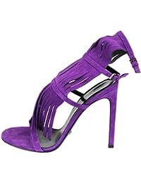 Gucci Gladiador de Gamuza con Flecos Becky Sandalias Zapatos 347284 (7.5 U.S. / 37.5,