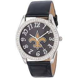 Game Time Damen NFL-GLI-NO Glitz klassischen analogen New Orleans Saints Uhr