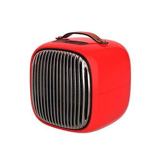 zyy 800W PTC Keramik Platz Heizung, Elektrisch Mini Persönlich Heizung Ventilator Mit Auto Schwingung Ausgestattet Mit Überhitzen (Farbe : Red) (Elektro-kamin Auto)