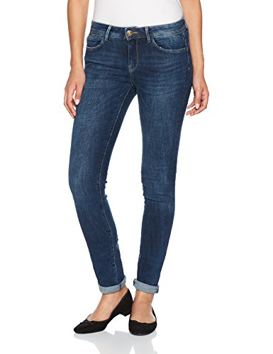 ONLY Damen Slim Jeans 15138745, Blau (Dark Blue Denim), W27/L30 (Basic Dark-denim-jeans)