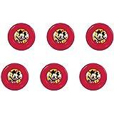 disney mickey mouse, 0310, Pack de 6 cuencos de plástico reutilizables para fiestas y cumpleaños (Mickey Mouse cuencos)