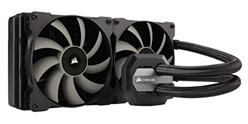 Corsair CW-9060027-WW RGB Hydro Series Wasserkühler (H115i 280 mm, All-In-One Extreme Performance) schwarz