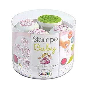 Aladine 3809 Stampominos - Lote de Sellos y tampón para Decorar (Madera), diseño de Princesas