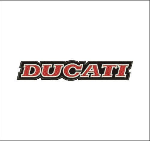 Patch Ducati Logo Vintage 1985–1996Moto Corse cm 13,5X 2,5parche bordado -1103