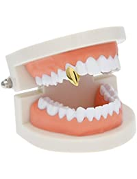 Mcsays Silver Gold-Plated Water Drop Shape Hip Hop Single Tooth, Vampire Grills Cap
