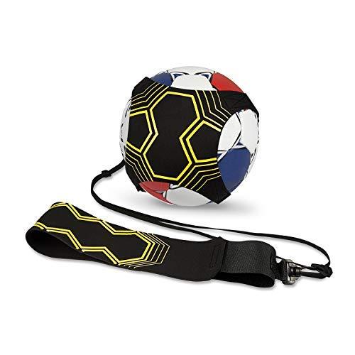 Vintoney Solo Fußball Trainer, Fußball Kick Trainer Fußball-Trainingsgeräte mit verstellbarem Taillengürtel Hands Free für Kinder Erwachsene Anfänger -