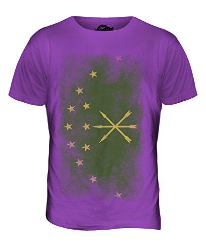 CandyMix Adygeja Verblichen Flagge Herren T Shirt Violett
