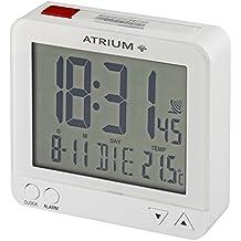Atrium De Radio Digital despertador LCD sensorgesteuerte Luz nocturna Función de repetición de función obenabsteller Despertador de viaje blanco/rojo A740–0