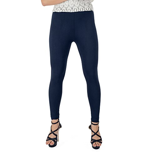 Legrisa Fashion Women's Navy Blue Ankle Length Leggings in XL, XXL & XXXL  available at amazon for Rs.314