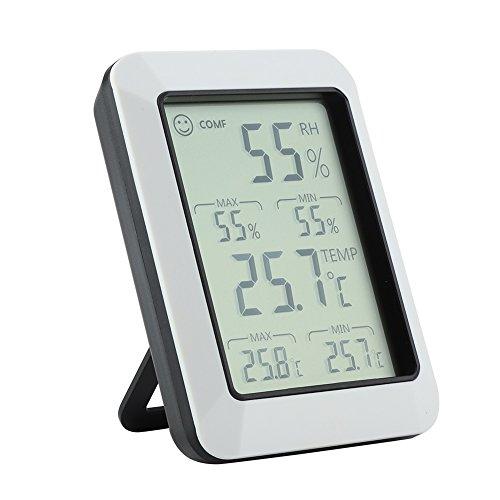 Temperatur-Hygrometer - Multi-Funktions-LCD-elektronisches drahtloses digitales max/min Temperaturfeuchtigkeitsmessgerät
