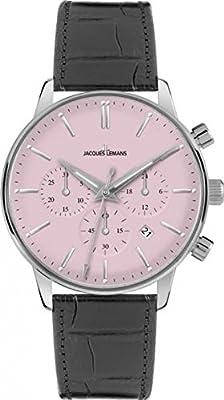 Jacques Lemans 1-209F - Reloj Analógico Para Hombre, color Rosa Negro de Jacques Lemans