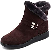 chaussures femme Manadlian Bottes Bottines Femme Wool Lined Suede Boots -  Botines d automne et 3a347c4386f1