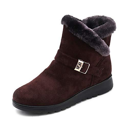 Bovake Frauen Plus Samt Stiefel Warm Bleiben Booties Schuhe Winter Kurze Schneeschuhe Rutschfeste Sohle Klassischer Stiefeletten