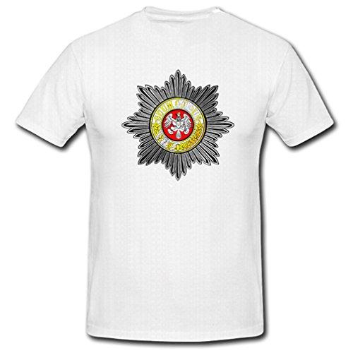 preußischer Gardestern Suum Cuique Preußen Adler Orden Medaille - T Shirt #5565, Größe:Herren 5XL, Farbe:Weiß