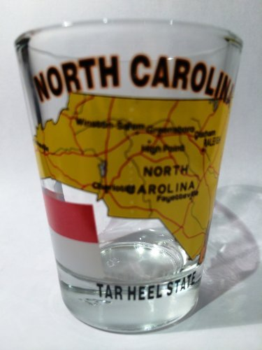 North Carolina The Tar Heel State All-American Collection Shot Glass by World By Shotglass
