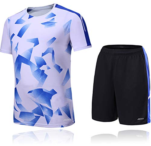 1847eb08c Football Jersey Shirt + Shorts Men s Soccer Shorts Set Training Jersey 100%  Polyester Breathable Quick