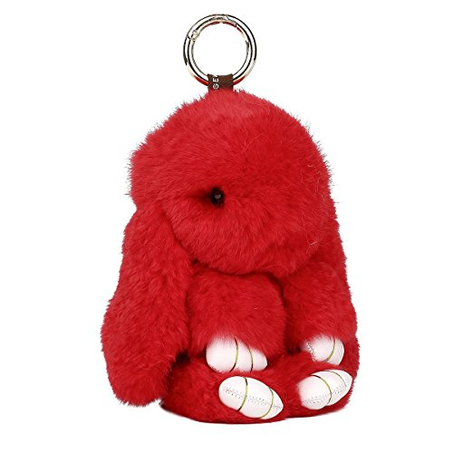 mignon-lapin-fourrure-porte-cles-sac-charm-175-x-95-cm-red