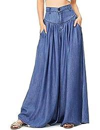 94ce64f216cc Donna Pantaloni Baggy Estivi Moda Tempo Waist Pantaloni Libero High  Abbigliamento Festivo Eleganti Sciolto Hippie Prodotto Plus Pantalone…