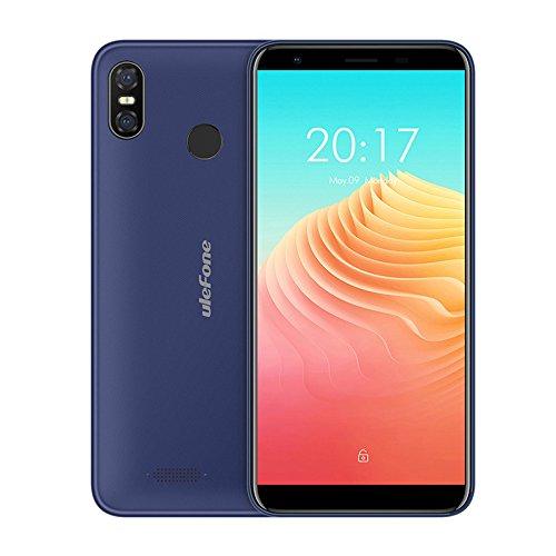 Ulefone S9 Pro - polegadas HD 5,5 + (18: 9 tela cheia) Smartphone Android 8.1 4G, super slim, MTK6739 Quad Core 2 GB + 16 GB, dual SIM, o triplo da câmera (5 MP + 13 MP + 5 MP), o reconhecimento facial, bateria 3300 mAh - Azul