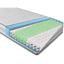 BMM Komfort.TFK Colchón de muelles embolsados de 7 Zonas 80x200 cm en dureza H3