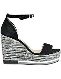 mujer zapato de quero MARCELA YIL blanco/negro 38 nero 8Ogn9P
