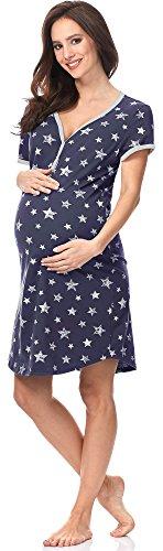 Italian Fashion IF Damen Stillnachthemd Kometa 0114 (Dunkelblau, XL)
