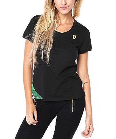 Puma Ferrari Women's Graphic T-Shirt (761419 01) (Black) (UK 14 / EU 42 / US L)