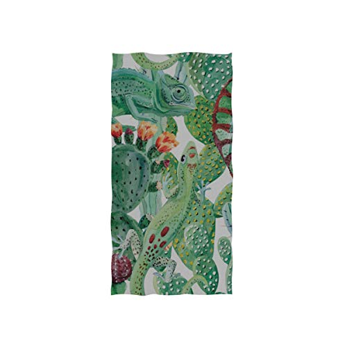 Eidechse Dschungel Tropische Tier Soft Spa Strand Badetuch Fingerspitze Handtuch Waschlappen Für Baby Erwachsene Badezimmer Strand Dusche Wrap Hotel Reise Gym Sport 30x15 Zoll -