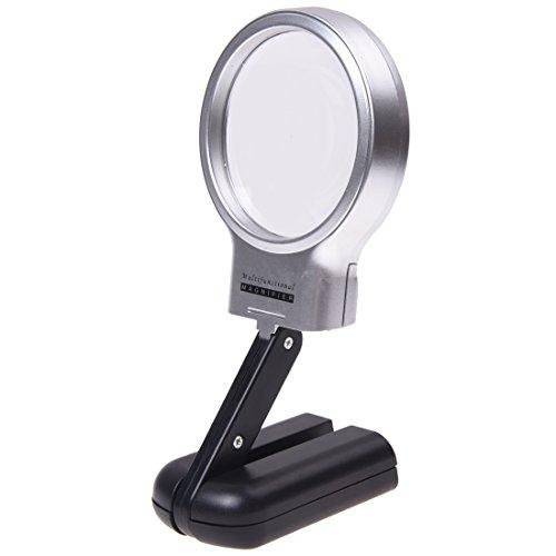 3x Magnifier Lampe (YiFeng Lupe mit dreifacher Vergrößerung, beleuchtet von 10LED-Lampen, klappbar, mit Ständer, kann in der Hand gehalten werden oder augestellt werden)