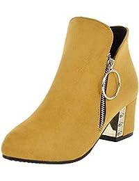 668bc36968d5 Amazon.fr   talon - Jaune   Bottes et bottines   Chaussures femme ...