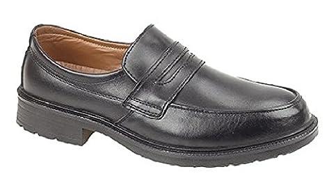 Managers Saddle Casual Safety Shoe - Black - Black -