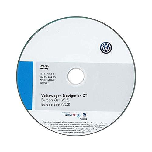 Volkswagen 1T0051859AJ DVD-ROM für Navigationssystem für RNS 510/810 CY Europa Ost (V12)