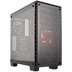 Corsair Crystal 460X Boîtier PC Gaming (Moyenne Tour ATX avec Fenêtre en Verre Trempé) Noir